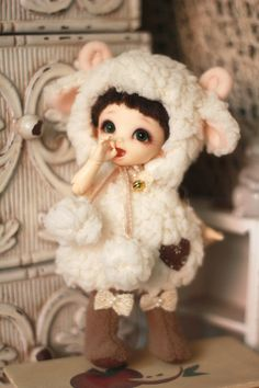 Sheep Outfit for Lati Yellow or Pukifee by AngelGardenByChilly, $33.00