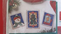 """Holiday Stamps Wearable Counted Cross Stitch Kit 8503 Dimensions 13 x 5 1/2"""" NIP #Dimensions #Wearables"""