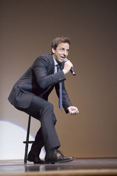 Seth Meyers, Saturday Night Live writer, engages the sold-out crowd in Goldstein Auditorium Wednesday evening during his standup comedy set Seth Meyers, Saturday Night Live, Auditorium, Stand Up, Crowd, Wednesday, Comedy, Writer, Hilarious