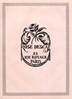 Rose Descat (Millinery) 1939 Vintage advert Women's fashion | Hprints.com