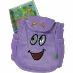Dora the Explorer Plush Backpack Bag by GDC. $11.46. Dora fans can be like Dora with a backpack just like hers! Perfect for carrying Dora plush or toys, Mr. Backpack is made of soft and fuzzy plush fabric and his smiling face is embroidered on the front with shiny satin. Dora's other helpful sidekick, SuperMap is made of vinyl and is securely attached to one of the side pockets. The main compartment flap has a hidden magnetic tab that's easy to open but closes securely to prevent...
