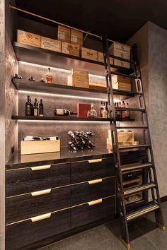 Custom Wine Room - Amuneal: Magnetic Shielding & Custom Fabrication Wine Storage Cabinets, Wine Shelves, Oak Shelves, Whiskey Room, Kitchen Bar Design, Home Wine Cellars, Wine Cellar Design, Whisky Bar, Home Bar Designs