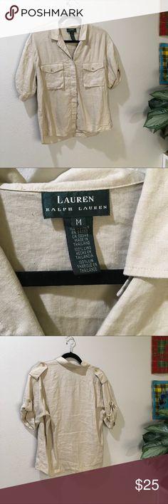 Ralph Lauren Khaki Button Up Ralph Lauren Khaki Button Down Lauren Ralph Lauren Tops Button Down Shirts