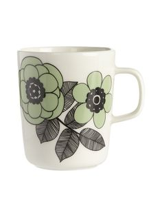 Marimekko Kestit mugg Kitchenware, Tableware, Marimekko, Kitchen Accessories, Diy And Crafts, Somerset, Green, Stuff To Buy, Cabinet