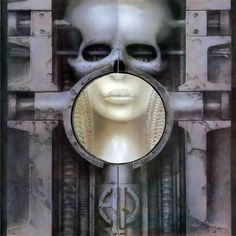 Best known for his work with the Alien franchise, Giger also helped create the visual aesthetic for ELP when he designed the cover art for their 1973 album, Brain Salad Surgery. Greatest Album Covers, Rock Album Covers, Classic Album Covers, Brain Salad Surgery, Lps, Vinyl Cover, Cover Art, Lp Cover, Greg Lake