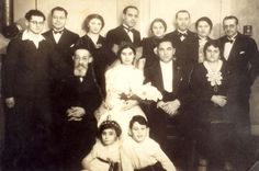 Dalmenhoust, Germany, The Bendel family at a wedding, January 1938. Most were murdered a few years later by the Nazis