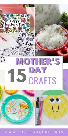 15 Mother's Day Crafts for Kids - Mom will love these easy crafts for everyone from preschoolers, to teens! Simple crafts that can be made at home or at school. Perfect for Grandma too! Mothers Day Crafts For Kids, Bible For Kids, Crafts For Kids To Make, Valentines For Kids, Happy Mothers Day, Simple Crafts, Kids Crafts, Preschool Crafts, Summer Activities For Kids