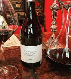 Pic credit to wineisdrink on Instagram. Grand Cru red Burgundy from Olivier Bernstein. Clos Vougeot, Red Burgundy, Wines, Red Wine, Alcoholic Drinks, Champagne, Bottle, Glass, Instagram