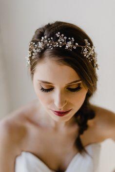 Bridal Hair Wreath  Wedding Hair Piece  Bridal por GlamHerBands