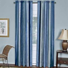 """Ombre Curtain Panel, Blue, 50"""" x 84"""""""
