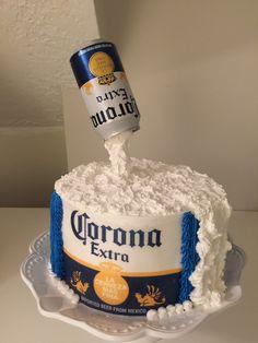 Hikari Bolos Artísticos: Cerveja - in 2020 Birthday Cakes For Men, 21st Birthday Cupcakes, Beer Birthday Party, Guys 21st Birthday, 25th Birthday Ideas For Him, Bolo Simpsons, Corona Cake, Corona Beer, Alcohol Cake