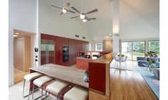 The kitchen inside a Sagaponack, Hamptons home that's situated on an agricultural reserve.