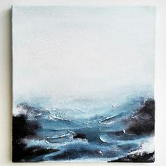 Abstract seascape waves acrylic on canvas Painting Inspiration, Art Inspo, Interior Inspiration, Diy Art, Painting & Drawing, Art Drawings, Art Projects, Art Photography, Abstract Art