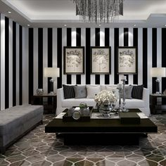 Image result for black and silver striped wallpaper