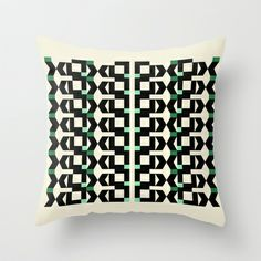 Abstract Pattern Throw Pillow by Marie-Lucia Fantasia - $20.00