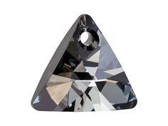 Swarovski 6628 16mm XILION Triangle Pendant Crystal Silver Night