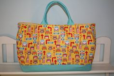 Large Yellow Brown Blue Pink and Red Route 66 Retro by eoneill2012, $28.00