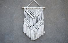 Macrame wall hanging Medium size wall decor by CrochetedCosiness