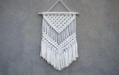 Macrame wall hanging Medium size wall decor Woven wall hanging Weaving fiber art Retro interior decor Handmade home decor Eco-friendly gift