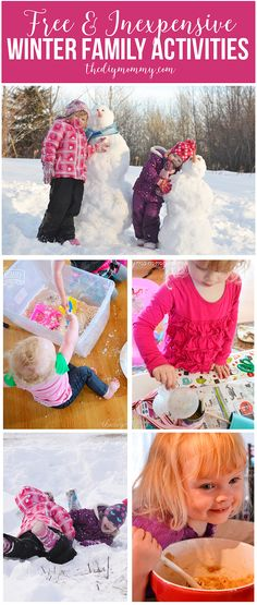 23 Free or Almost Free Family Day Activity Ideas to Do This Winter | The DIY Mommy