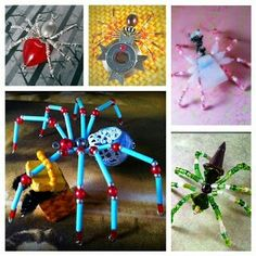 Beaded Spiders, Beaded Animals, Insects, Gift Wrapping, Gifts, Gift Wrapping Paper, Presents, Wrapping Gifts, Bead Animals