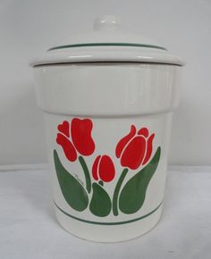 Vintage Nina Tulip Cookie Jar made in USA by Treasure Craft
