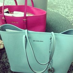 mint and pink michael kors bags