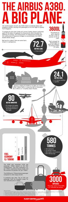 The Airbus A380. A Big Plane  (Infographic)