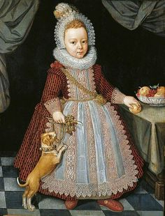 A Child with a Rattle, attributed to Paulus van Somer I, 1611, the Temple Newsam House