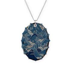 JAPANESE WAVE DESIGN Necklace on CafePress.com