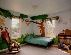 Lustige Dschungel Dekoration im Kinderzimmer – 15 schöne Beispiele - wanddekoration kinderzimmer dschungel