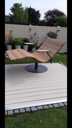 Sonnenliege SunDivan Farm Projects, Wooden Projects, Outdoor Projects, Outdoor Decor, Pool Furniture, Metal Furniture, Backyard Gazebo, Patio, Tattoo Studio Interior