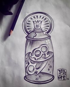 Desenho rápido pra gastar a onda dessa sexta disponível pra tatuar que no feriado tá tendo... #sketch #tattoosketch #newschool #spray #spraycan #ironfist #brassknuckles by rafaelplai http://ift.tt/1U1nA8u