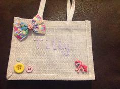 My little pony jute bag, personalised