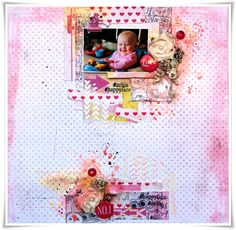 """Layout made as DT Poppydesign. New paper collection """"Drawings""""! :)"""