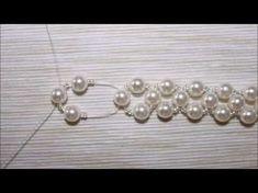 Tutorials #1 Pulseira Pérolas - YouTube #beadedjewelry