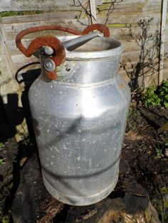 Traditional Milk Churn Aluminium Construction 30 Litre size Integral locking Lid 1 of 4 matching Churns currently in stock number 2 of 4 by VintageFoggy on Etsy