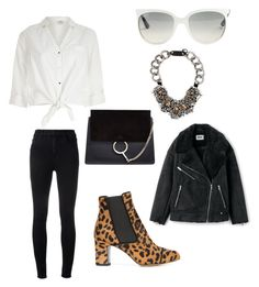 """Untitled #29"" by frid1445 on Polyvore featuring Tabitha Simmons, J Brand, River Island, Ray-Ban, Chloé and Prada"