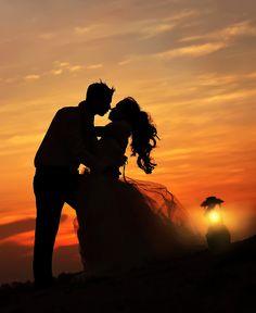 Awesome sunset silouhette