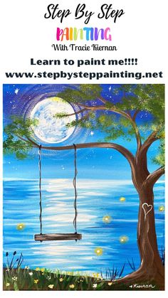 Canvas Painting Tutorials, Acrylic Painting For Beginners, Simple Acrylic Paintings, Acrylic Painting Techniques, Step By Step Painting, Beginner Painting, Painting Lessons, Diy Painting, Happy Paintings