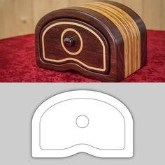 """Bandsaw Box Pattern """"Aurora"""" — Drunken Woodworker Store"""
