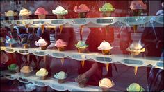 Tiffany Ice Cream Cone Window