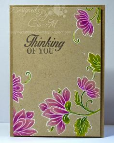 Like the bright colors with white embossing on Kraft