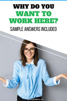 """Be prepared for your next job interview and impress the hiring manager by using our sample answers for answering the interview question """"Why Do You Want to Work Here? Situational Interview Questions, Interview Answers, Job Interview Tips, Interview Preparation, Interview Tips Weaknesses, Apply Job, Job Motivation, Telephone Interview, What Motivates Me"""