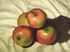 """Four apples"" original fine art by Michael Sason"