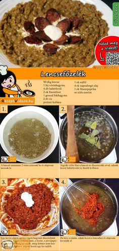 Lentil stew recipe with video - stew recipes / soup recipes Easy Stew Recipes, Real Food Recipes, Vegetarian Recipes, Cooking Recipes, Yummy Food, New Years Eve Food, Lentil Stew, Hungarian Recipes, Dessert Drinks