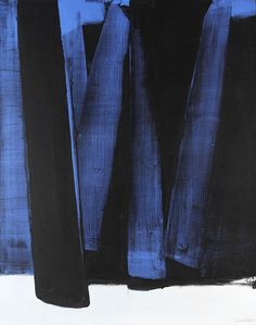Blue & Black painting by Pierre Soulages Action Painting, Painting & Drawing, Black Painting, Large Painting, Modern Art, Contemporary Art, Art Blog, Art Photography, Artistic Photography