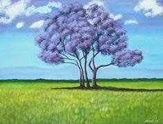 """Jacaranda"" Painting by Astrid Rosemergy 2012"