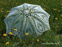 WHITE IVORY Wedding Umbrella Lace Umbrella by ModernCrochetClub