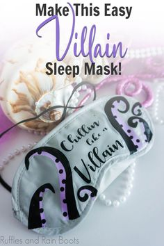 I love how easy it is to make this fun Ursula sleep mask! It's such a simple project, and so cool--it makes a great Disney cruise fish extender gift idea. Grab the free Ursula SVG set for Cricut or SIlhouette here.